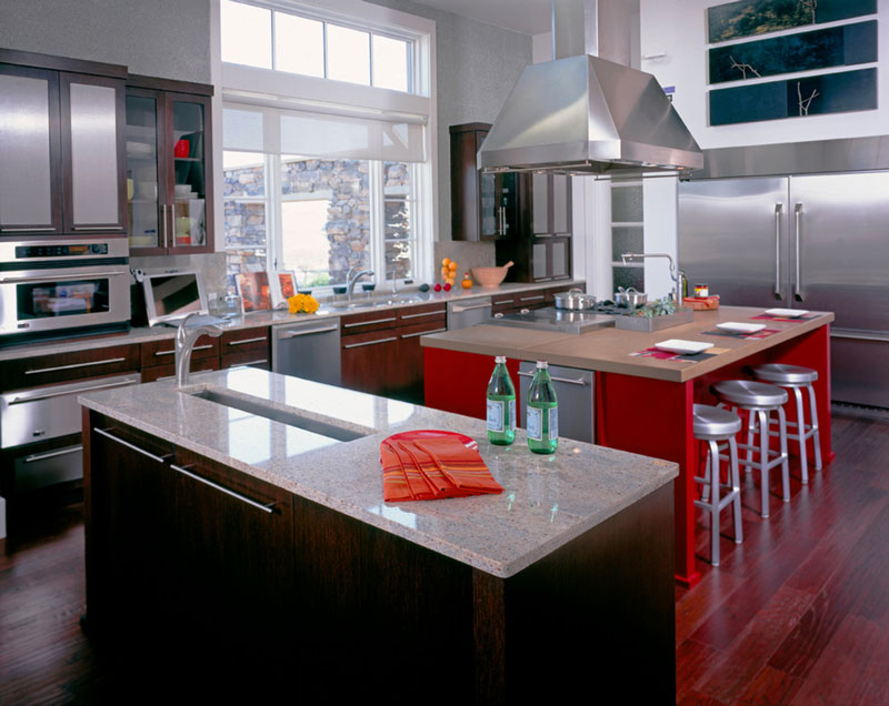 Portfolio sunset magazine show house kb associates Modern kitchen design magazine